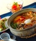 「アサリと豆腐のチゲ鍋」の献立