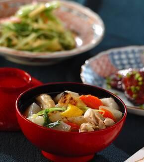 冬瓜と鶏肉のお雑煮の献立