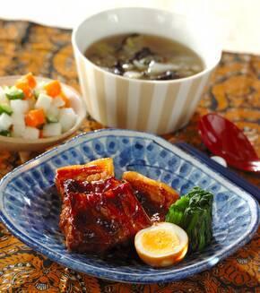 豚バラ肉の黒糖煮八角風味の献立