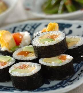 炙り巻き寿司の献立