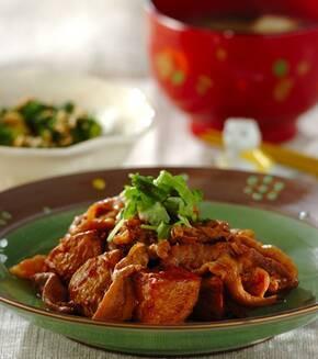 新ジャガと豚肉の中華炒めの献立