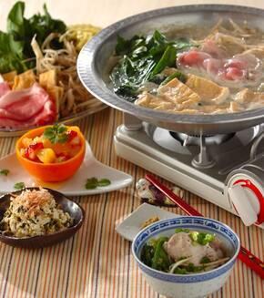 豚肉の豆乳中華鍋の献立