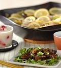 「豚バラとキャベツのレモン鍋」の献立
