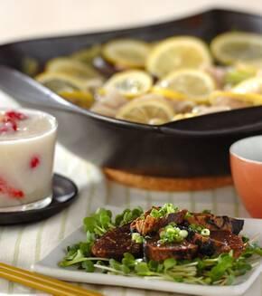 豚バラとキャベツのレモン鍋の献立