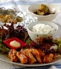 「鶏の照り焼き手巻きご飯」の献立