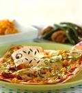 「春巻きの皮でピザ」の献立