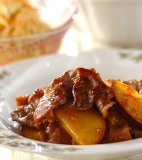 豚こま肉とサツマイモのママレード煮の献立