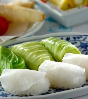 野菜寿司の献立