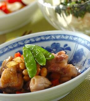鶏と大豆の煮物の献立