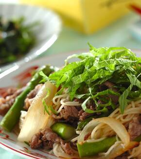 中華風素麺チャンプルーの献立