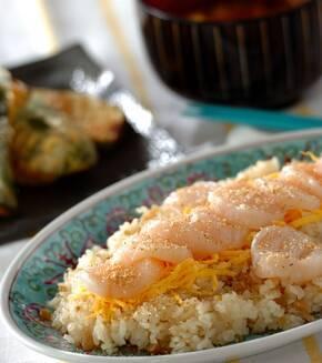 ホタテの中華風ちらし寿司の献立