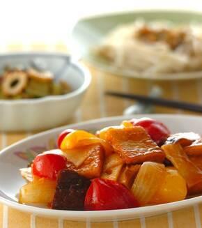 高野豆腐の酢豚風の献立