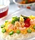 「七夕の日の素麺」の献立