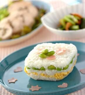 ヨーグルト風味の押し寿司の献立