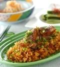 「炊き込みスペアリブ飯」の献立