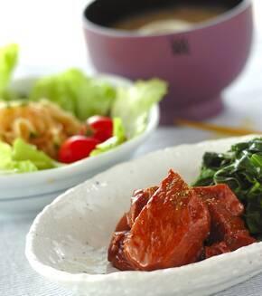 豚ロース肉の柔らか煮の献立