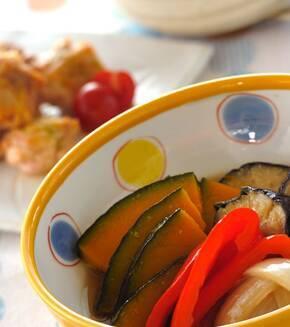 夏野菜の揚げ浸しの献立
