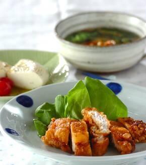 豚ロース肉の天ぷらの献立