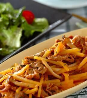 豚とジャガイモのソテーケチャップ和えの献立