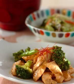 鶏とブロッコリーの炒め物の献立