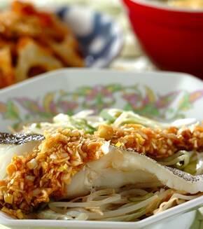 白身魚の中華レンジ蒸しの献立