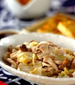 豚しゃぶと白菜の蒸し煮