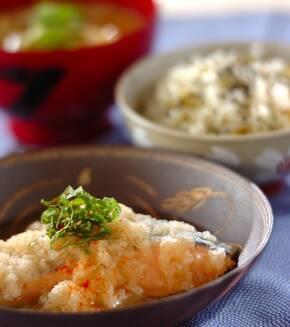 鮭と大根おろしの辛煮の献立