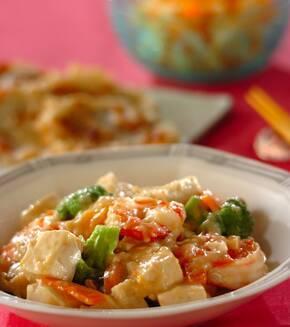 プリプリエビと豆腐のまろやかうま煮の献立