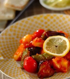 白身魚のレモンケチャップ炒めの献立
