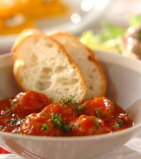 肉団子のトマト煮の献立