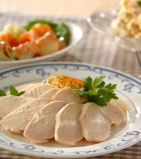 鶏ハムと里芋ピューレの献立