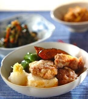 鶏肉と豆腐の揚げだし風の献立