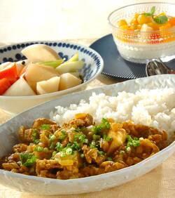 豚肉と里芋の和風カレー