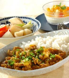 豚肉と里芋の和風カレーの献立