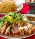 「揚げ焼き鶏のネギソースがけ」の献立