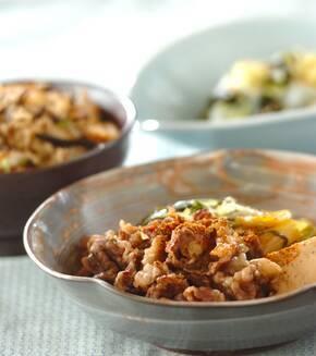 水菜の肉豆腐の献立