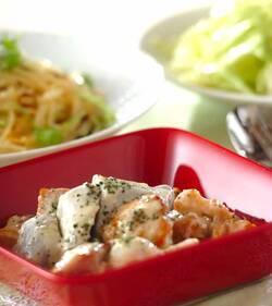 鶏肉と里芋のクリーム煮