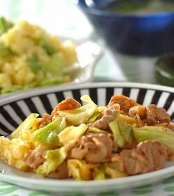 豚肉とキャベツのオイスター炒め