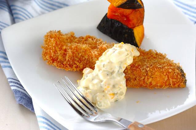 甘塩鮭のフライタルタルソースがけ