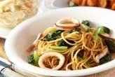 イカと小松菜スパゲティ