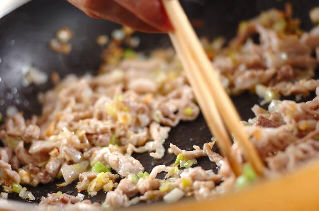 肉みそ大豆モヤシの作り方の手順4