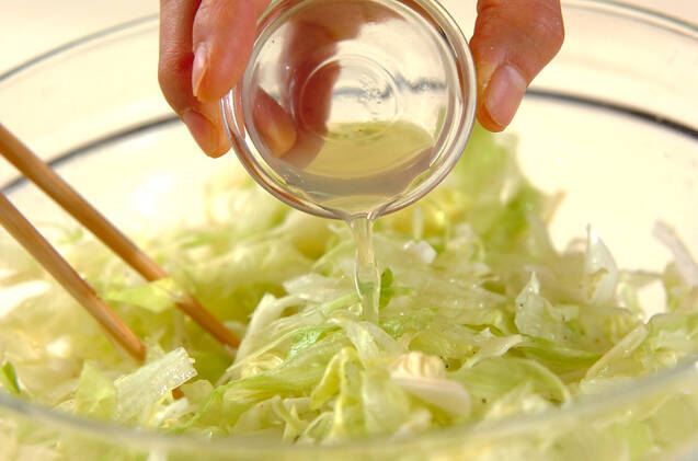 キャベツのシンプルサラダの作り方の手順4