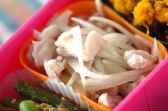鶏と玉ネギの甘酢