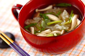 白キクラゲとシメジのスープ