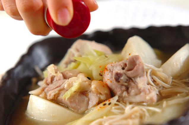 具だくさんチキンスープの作り方の手順4