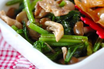 お肉とホウレン草の炒め物