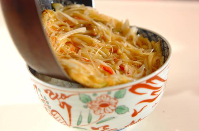 白ネギとザーサイの中華丼の作り方の手順7