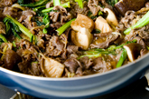 牛肉と小松菜の甘辛煮の作り方3