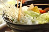 米団子入り鶏水炊きの作り方2