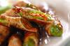 長唐辛子の豚肉巻きの作り方の手順